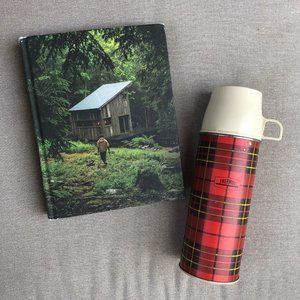Fall Bundle: Cabin Porn Book + Plaid Metal Thermos